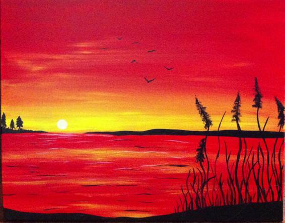 A Evening Sun paint nite project by Yaymaker