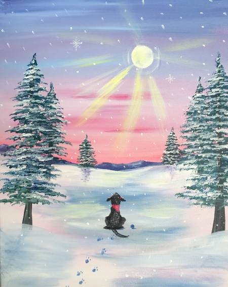 A Snow Daze paint nite project by Yaymaker