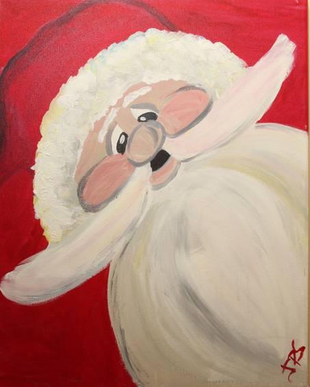 A Ho Ho Ho paint nite project by Yaymaker