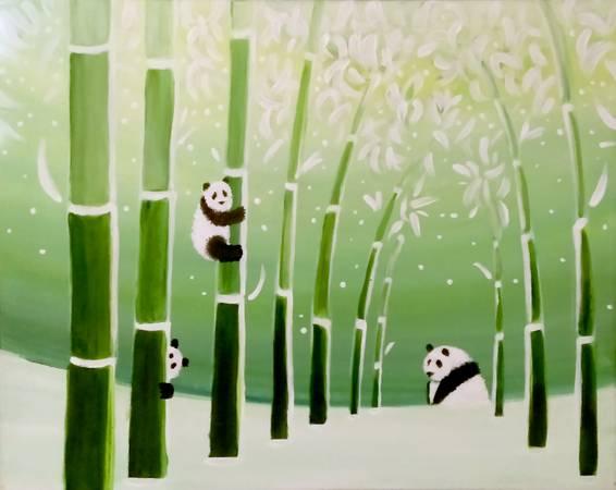 A Panda Boo paint nite project by Yaymaker