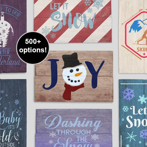 A Design a Sign Baby Its Cold Outside experience project by Yaymaker