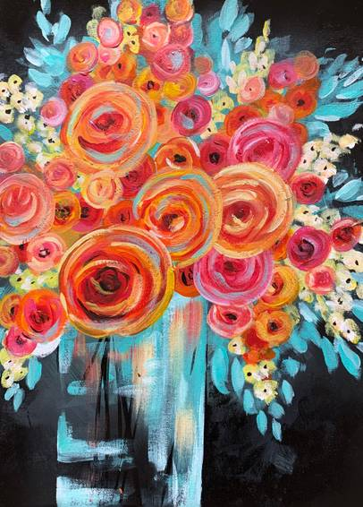 A Vibrant Rose Bouquet experience project by Yaymaker