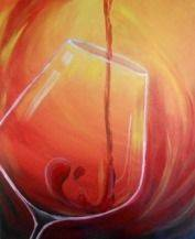 A Red Wine paint nite project by Yaymaker