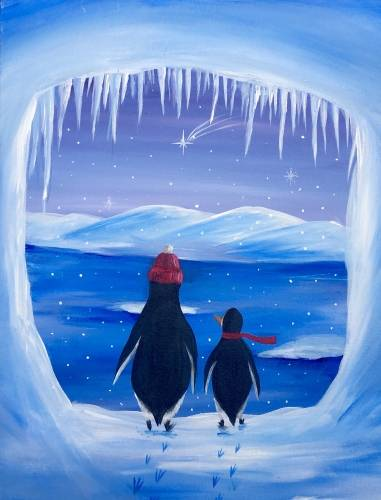 A Penguin Paradise II paint nite project by Yaymaker