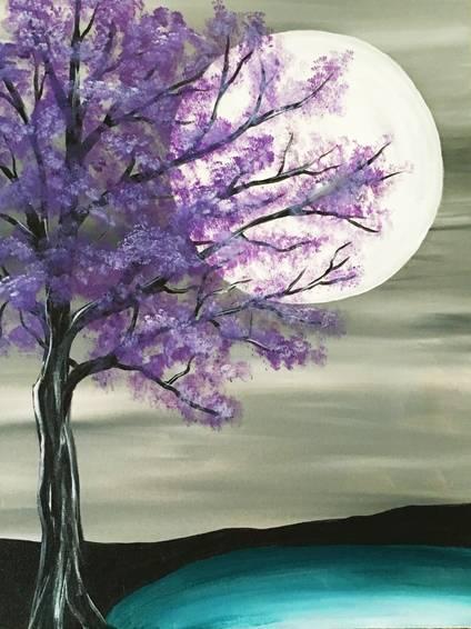A Majestic Purple Tree paint nite project by Yaymaker
