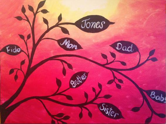 A Your Family Tree paint nite project by Yaymaker