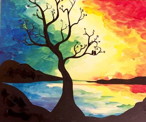 A Love Birds X paint nite project by Yaymaker