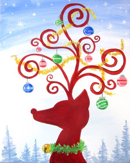 A Decorated Rudolf paint nite project by Yaymaker