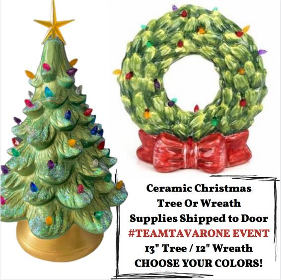 A Choose your Ceramic Tree or Wreath Supplies Shipped to Your Door TeamTavarone experience project by Yaymaker