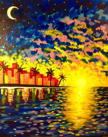 A West Coast Dreams paint nite project by Yaymaker