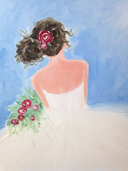 A Lovely Dress paint nite project by Yaymaker