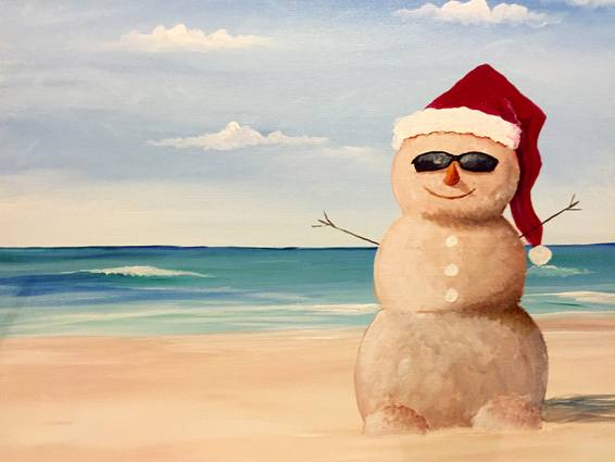 A Frosty in Paradise paint nite project by Yaymaker