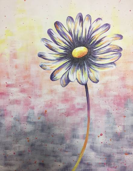 A Pastel Daisy paint nite project by Yaymaker