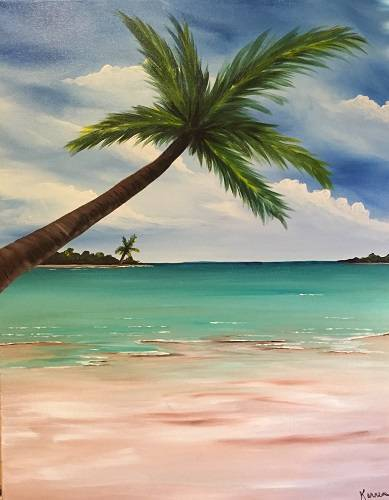 A My Happy Place paint nite project by Yaymaker