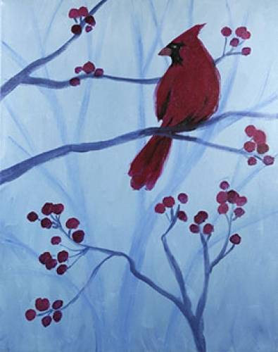 A Winter Cardinal III paint nite project by Yaymaker