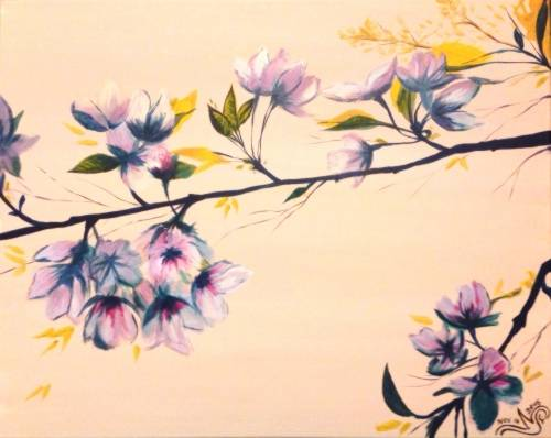 A Graceful Cherry Blossoms paint nite project by Yaymaker