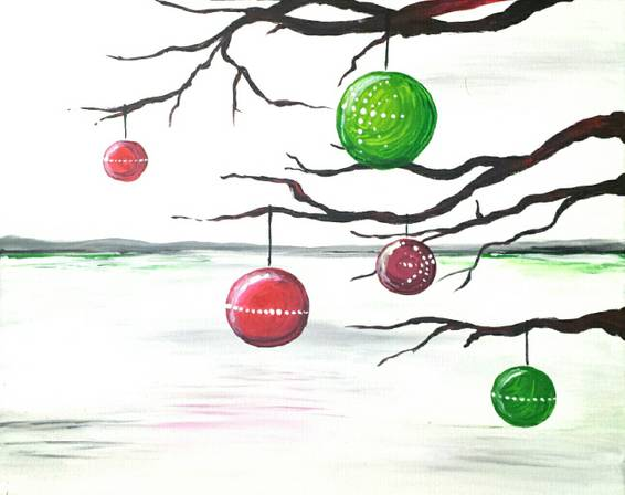 A Oh Christmas Tree paint nite project by Yaymaker