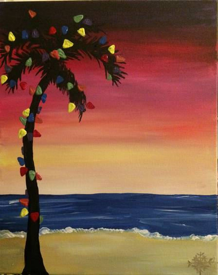 A Sunset Holiday Series 1 paint nite project by Yaymaker