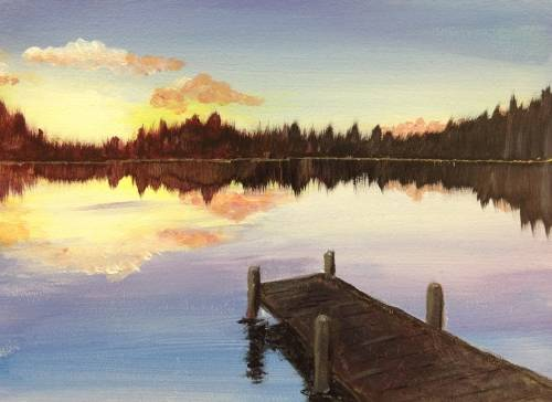 A The Dock II paint nite project by Yaymaker