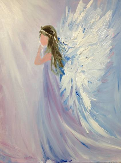 A My Beautiful Angel paint nite project by Yaymaker