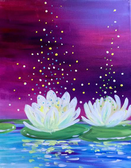 A Magic Lotus paint nite project by Yaymaker