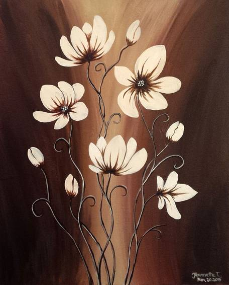 A Chocolaty Floral paint nite project by Yaymaker
