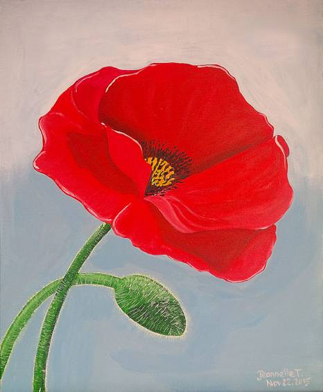 A Remember Me Poppy paint nite project by Yaymaker