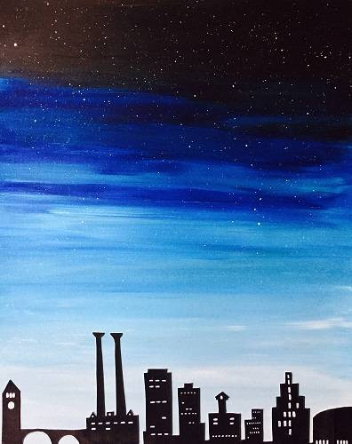 A Customize Your Citys Skyline paint nite project by Yaymaker