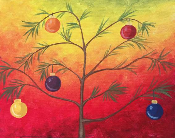 A Charlie Bs Christmas Tree paint nite project by Yaymaker