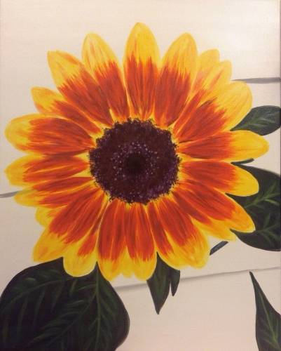A Sunflower Beautiful paint nite project by Yaymaker