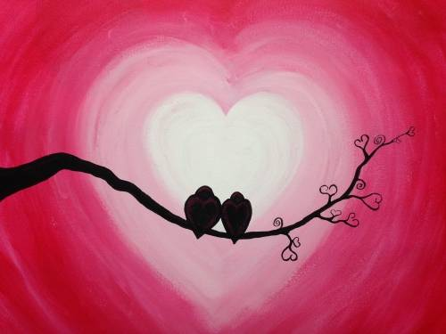 A Lovebirds II paint nite project by Yaymaker