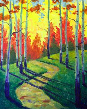A Birch Path paint nite project by Yaymaker