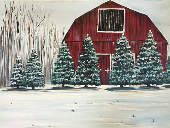 A Evergreen Farm paint nite project by Yaymaker