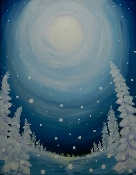 A Winter Whisper paint nite project by Yaymaker