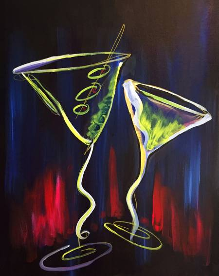 A Shaken Not Stirred paint nite project by Yaymaker