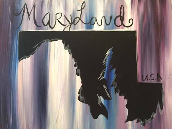 A Maryland My Home paint nite project by Yaymaker