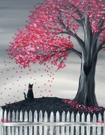A Falling Hearts paint nite project by Yaymaker