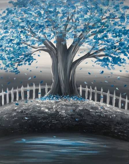 A Tree of Tranquility paint nite project by Yaymaker