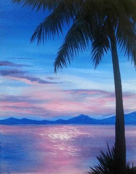 A Lavender Seas paint nite project by Yaymaker