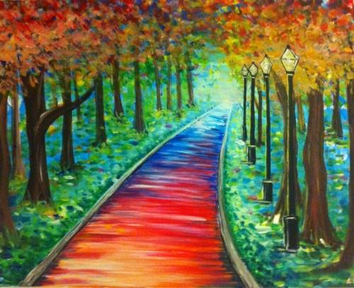 A Follow the Non Yellow Brick Road paint nite project by Yaymaker