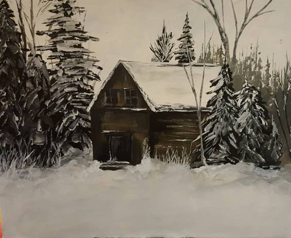 A Old Barn paint nite project by Yaymaker