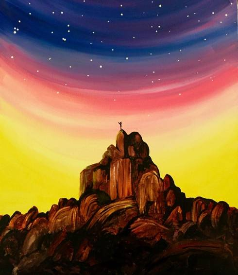 A On Top of the World paint nite project by Yaymaker
