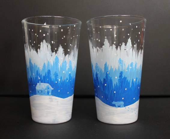 A Bear Country PINT GLASSES paint nite project by Yaymaker
