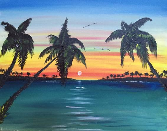 A Spring Break paint nite project by Yaymaker
