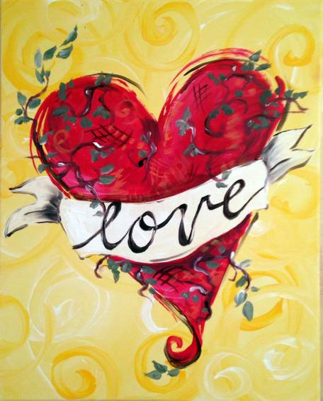 A Love Banner paint nite project by Yaymaker