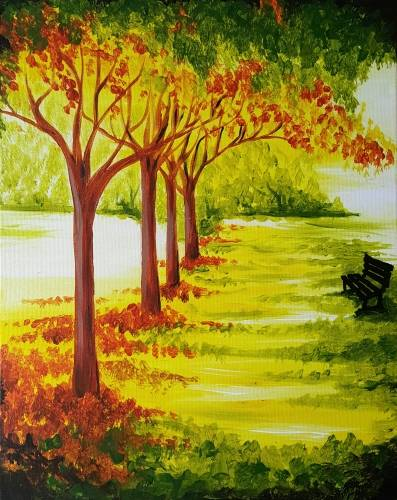 A Grandpas Bench paint nite project by Yaymaker