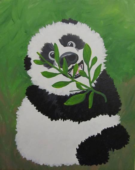A Good Luck Panda paint nite project by Yaymaker