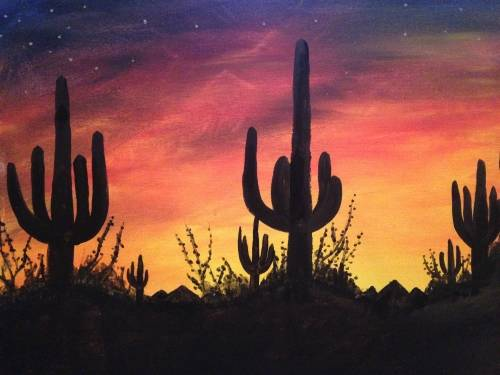 A Desert Sunset IV paint nite project by Yaymaker