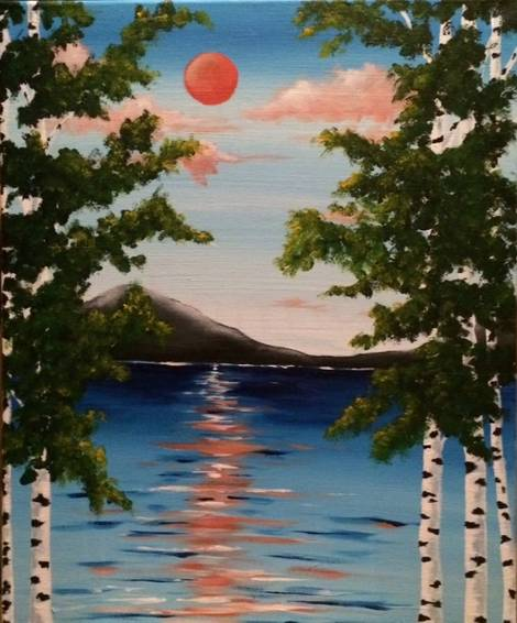 A Between the Birches paint nite project by Yaymaker