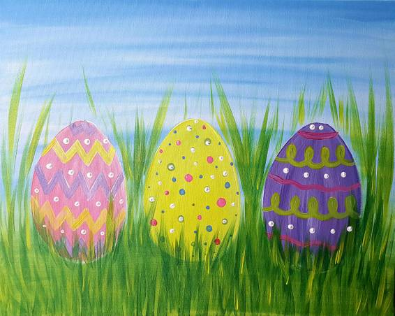 A Easter Eggs paint nite project by Yaymaker